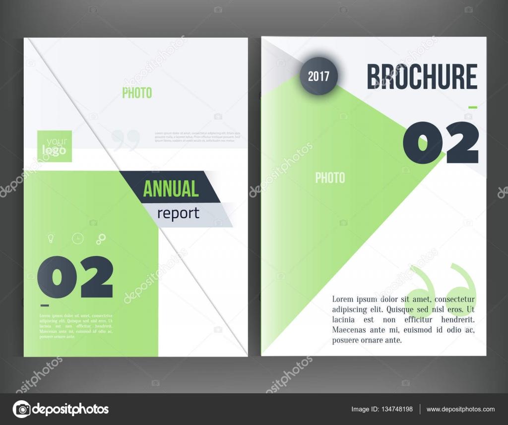 Reinigen Sie Vektor Jahresbericht. Broschüre Vorlage, Buch-Cover ...
