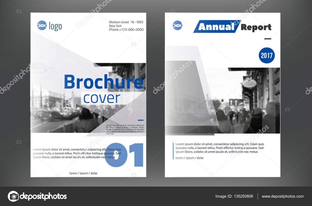 Azul anual Informe diseño plantillas vector de conjunto, cubierta de ...