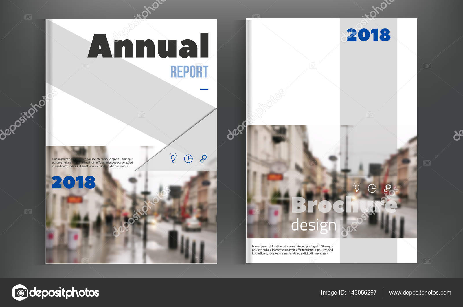 Brochure cover design template Annual Report layout Flyer – Simple Annual Report Template
