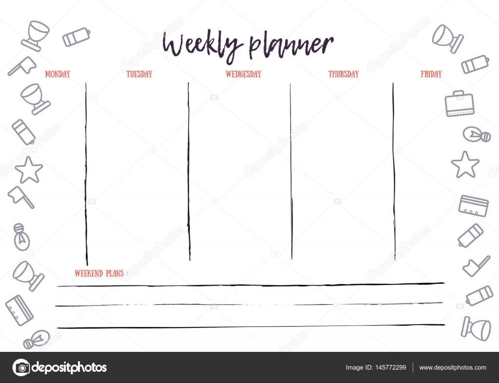 Calendario del pianificatore di settimana per uso for Pianificatore di piano online