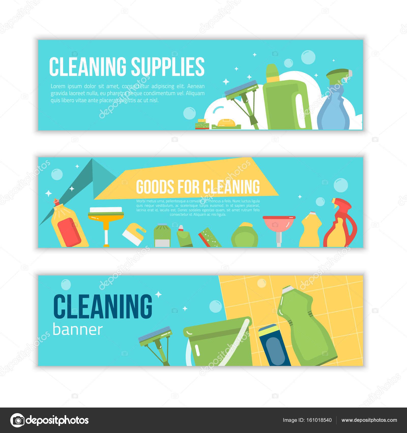 Reinigung Service Förderung Abbildung Banner Design Für Reinigung