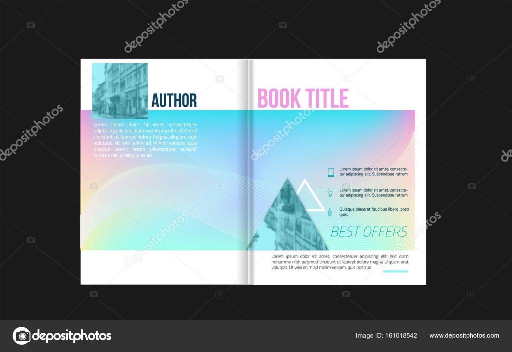 Broschüre-Cover-Design mit Ikonen und erlauben Fotohintergrund für ...