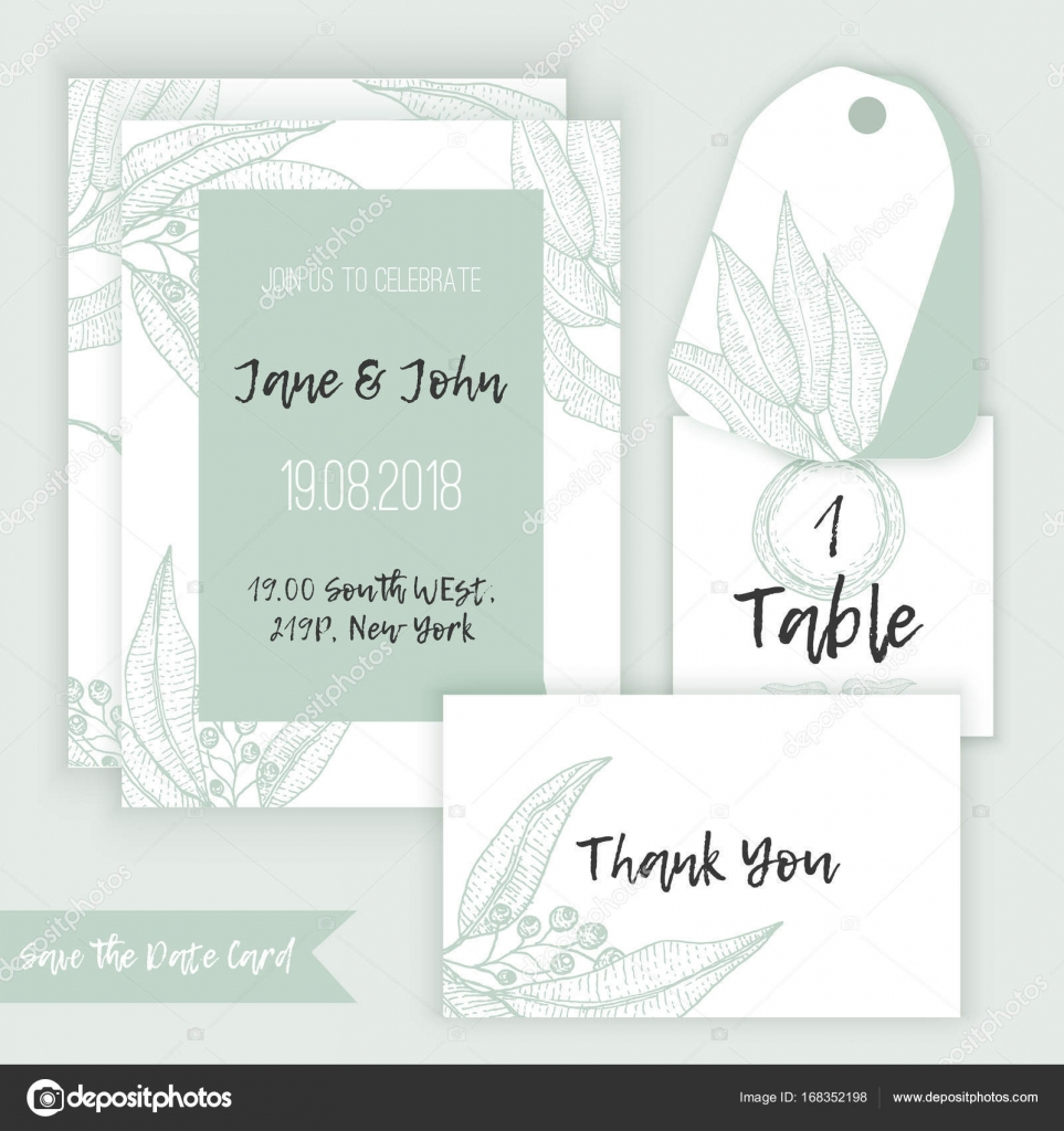 Rustic wedding decoration template decorate with eucalyptus branches rustic wedding decoration template decorate with eucalyptus branches in sketch style with menu table junglespirit Images