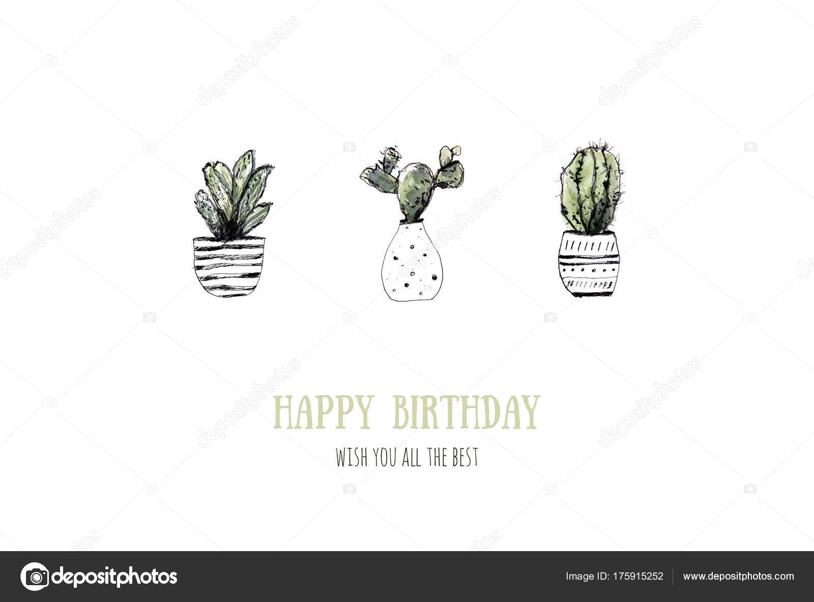 Cacti Flower Background Modern Rustic Home Art Card For Print Design