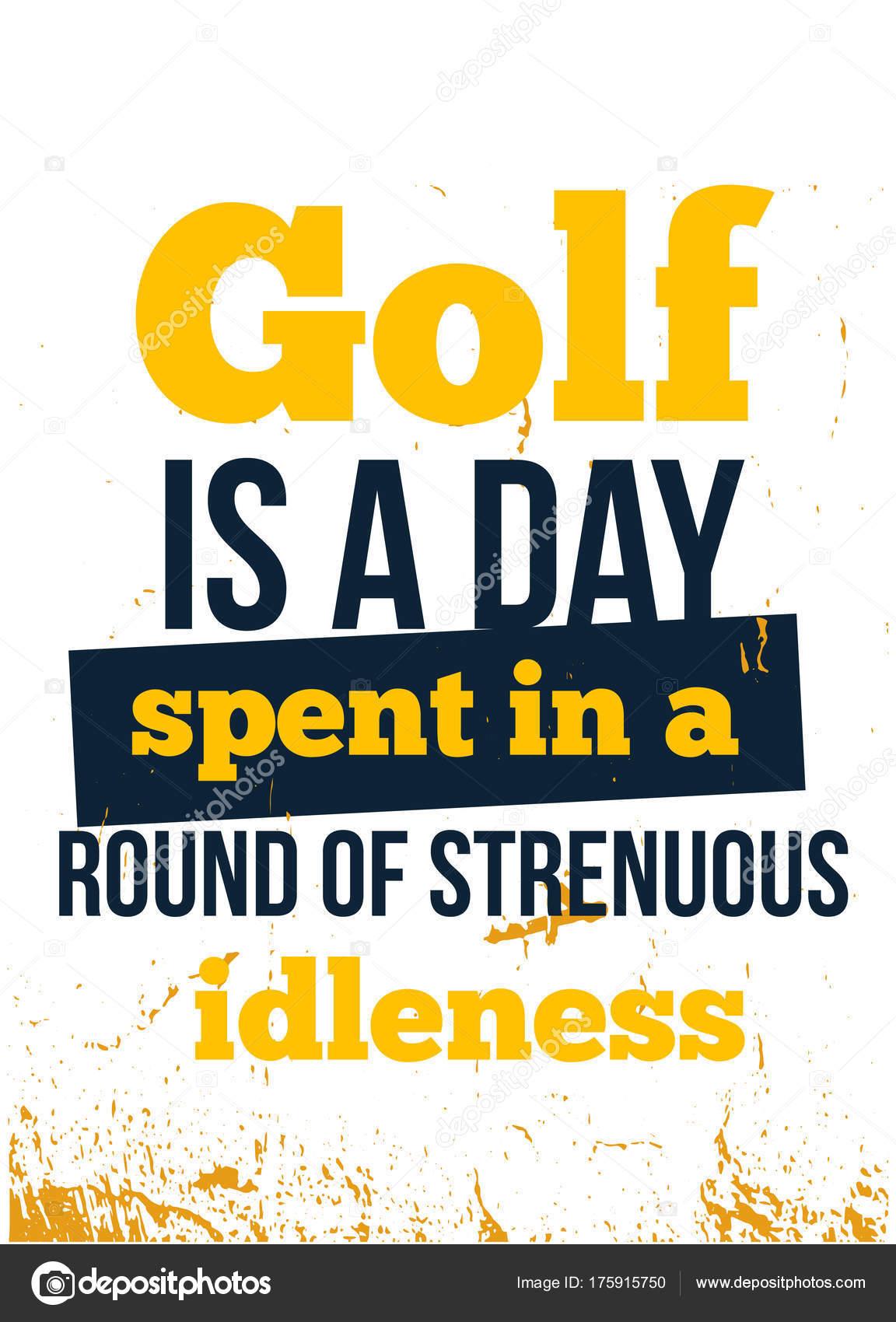 Golf Diseño De Poster Motivacional áspero Con Tipografía