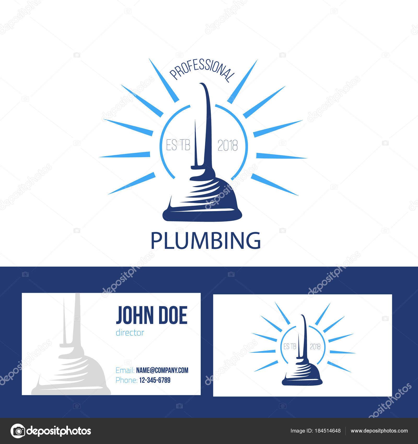 Carte De Visite Pour Le Service Plomberie Sur Fond Blanc Illustration Dessin Vectoriel