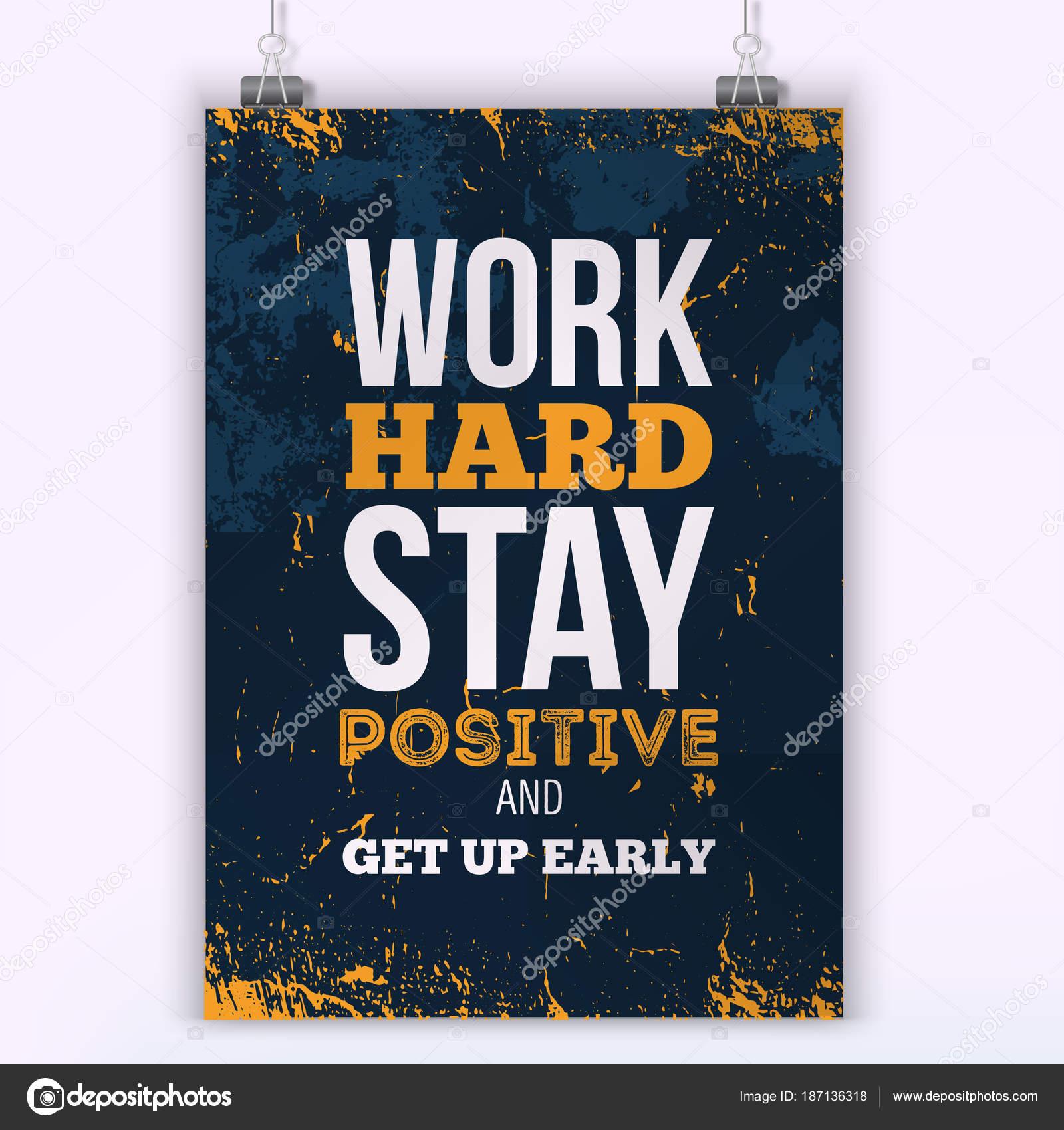 Conceito De Negócio Do Trabalho Duro De Motivação Vector