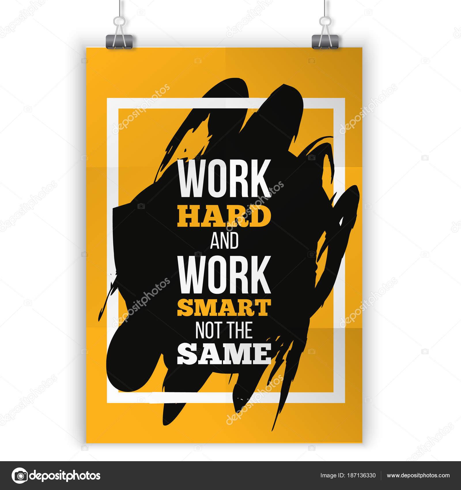 Citação Motivacional Trabalho Duro Cartaz De Tipografia