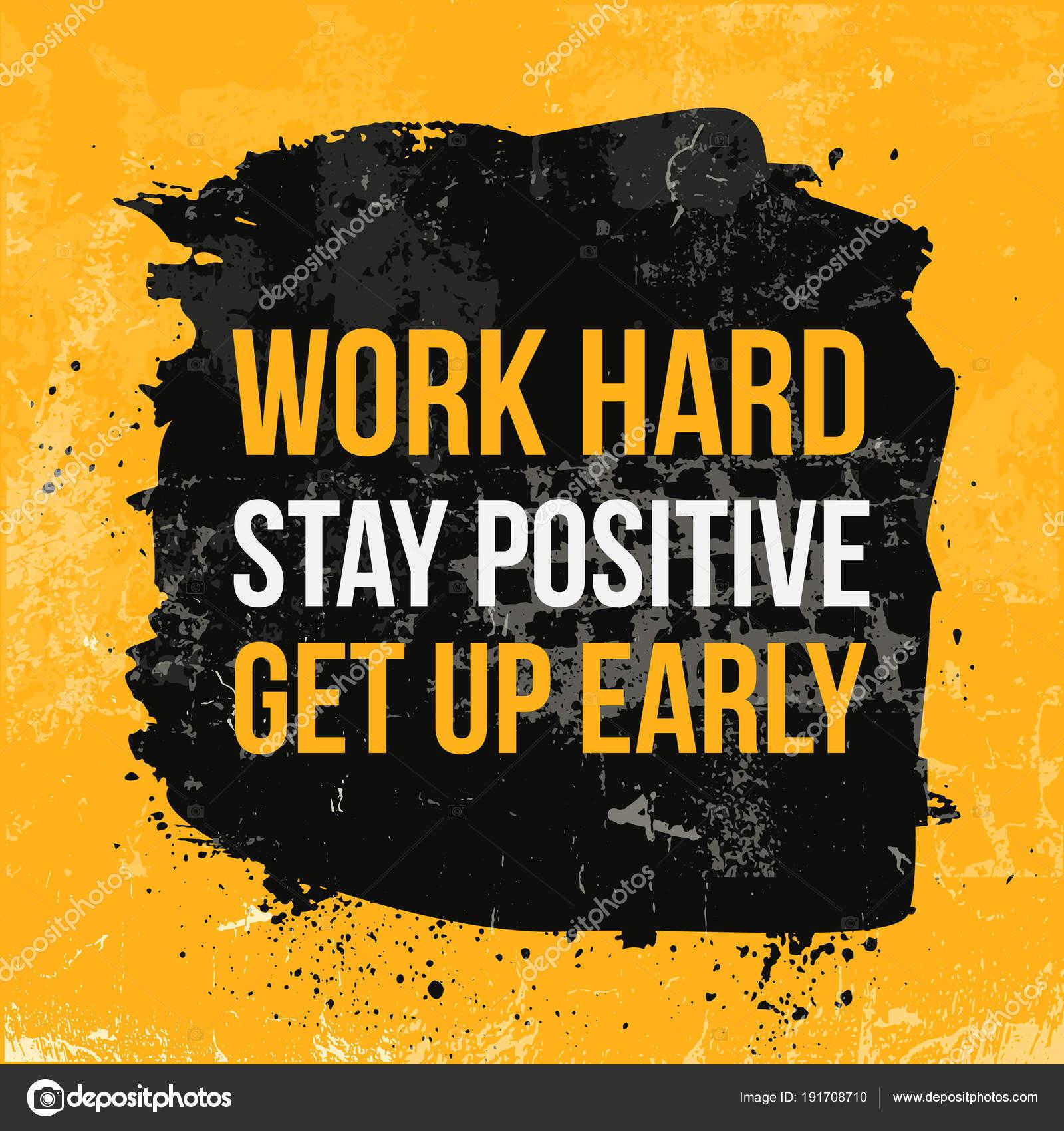 Work hard typography. Grunge poster. Typographic motivational card ...