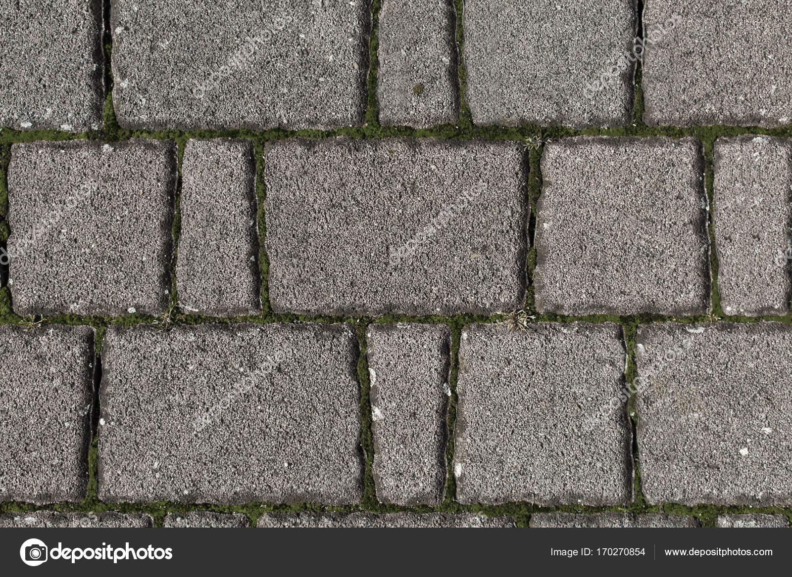 Sfondo Di Un Pavimento Di Pietre Autobloccanti Foto Stock