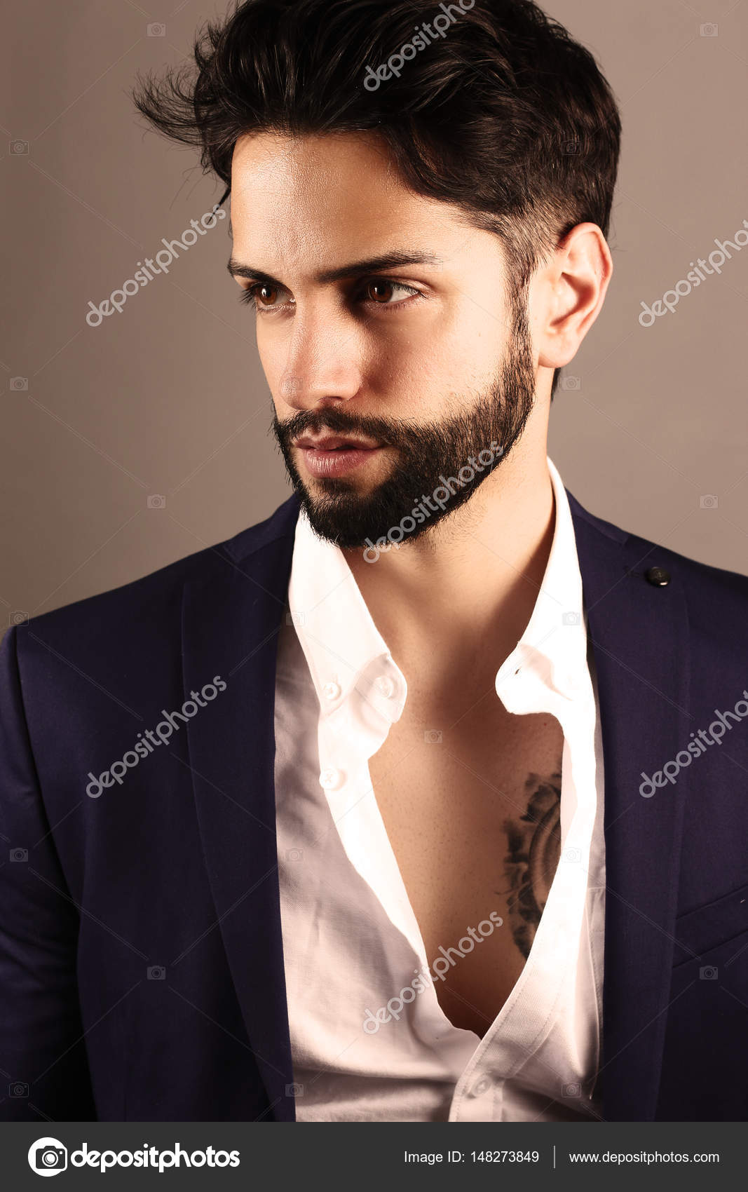 Handsome Man With A Low Fade Haircut Stock Photo Rdrgraphe
