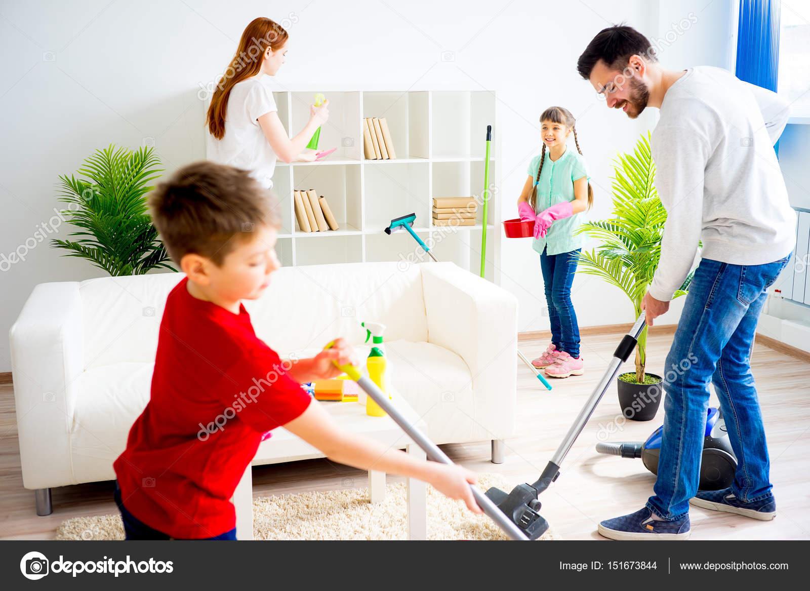 Family cleaning house stock photo lenanichizhenova for House cleaning stock photos