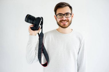 Male photographer with dslr