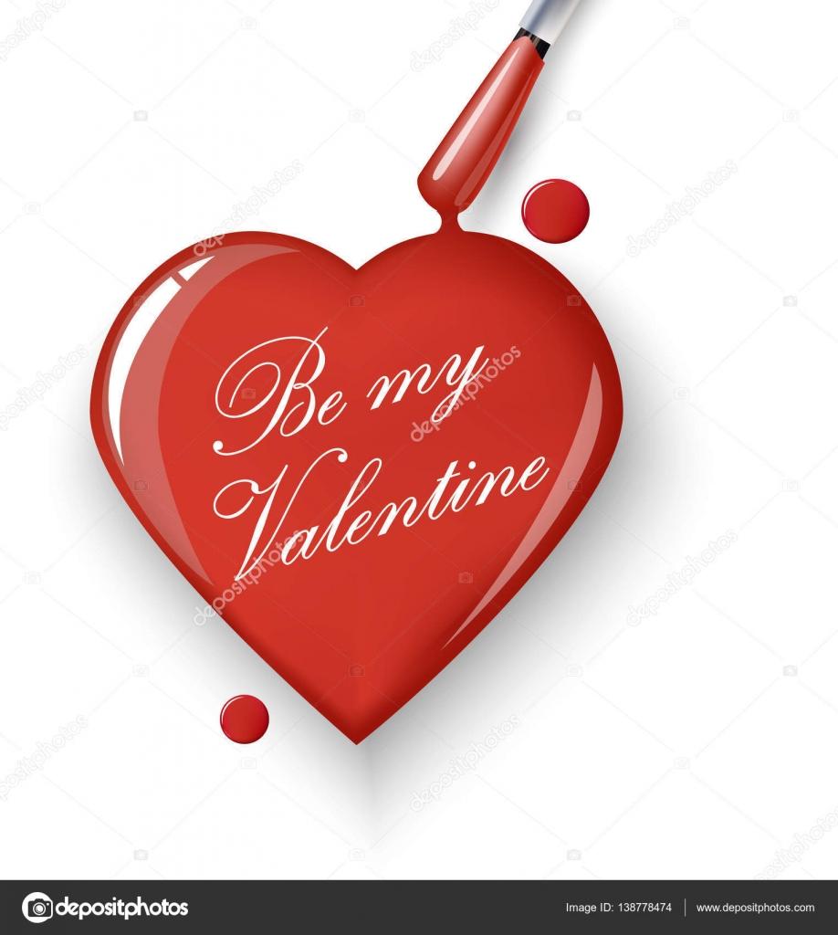 Valentines Day Card.Red Herzen von Tropfen nail Polish.Use für ...