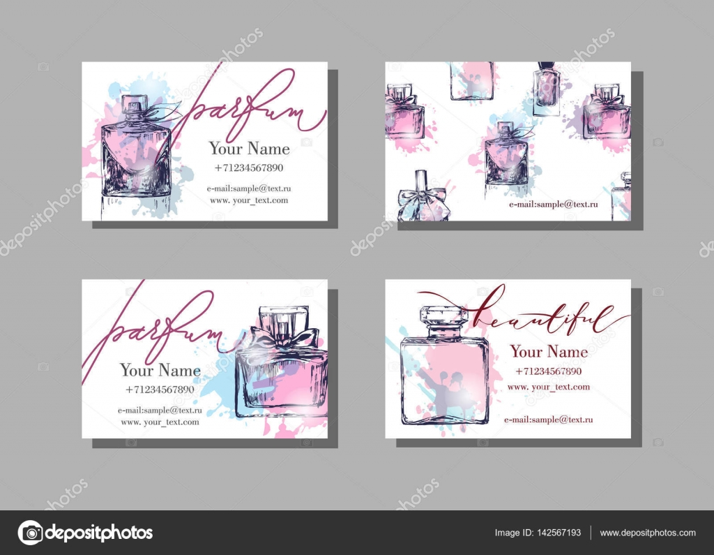 makeup artist business card vector template with