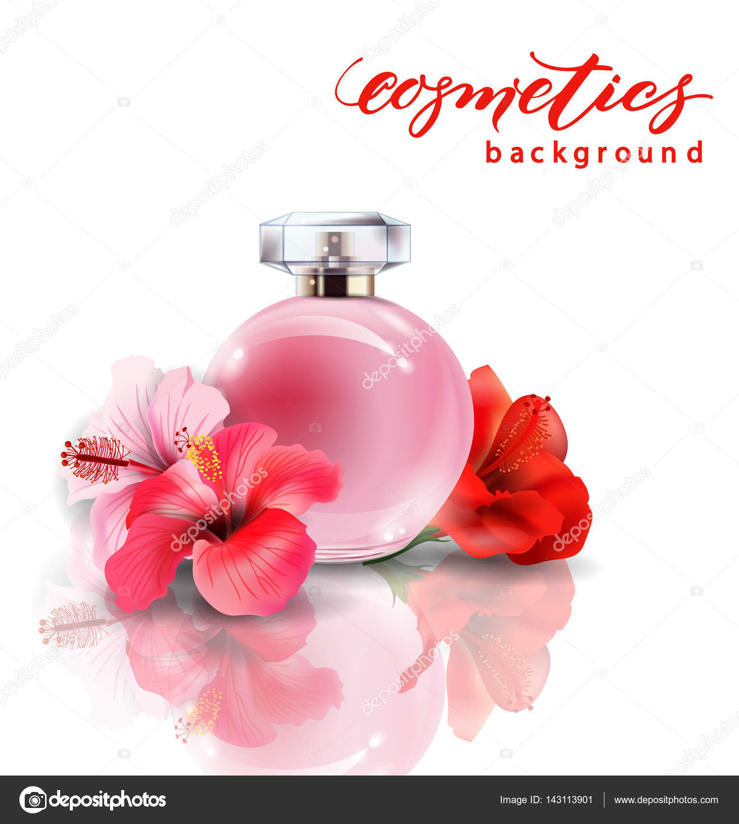 Pink bottle womens perfume with spring flowers crocuses vector pink bottle womens perfume with spring flowers crocuses vector stock vector mightylinksfo Gallery