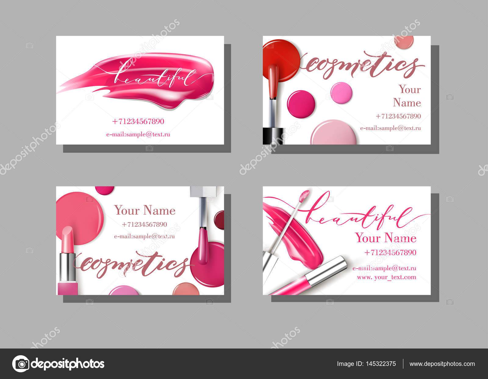 Makeup artist business card vector template with makeup items makeup artist business card vector template with makeup items pattern lipstick template vector fbccfo Images