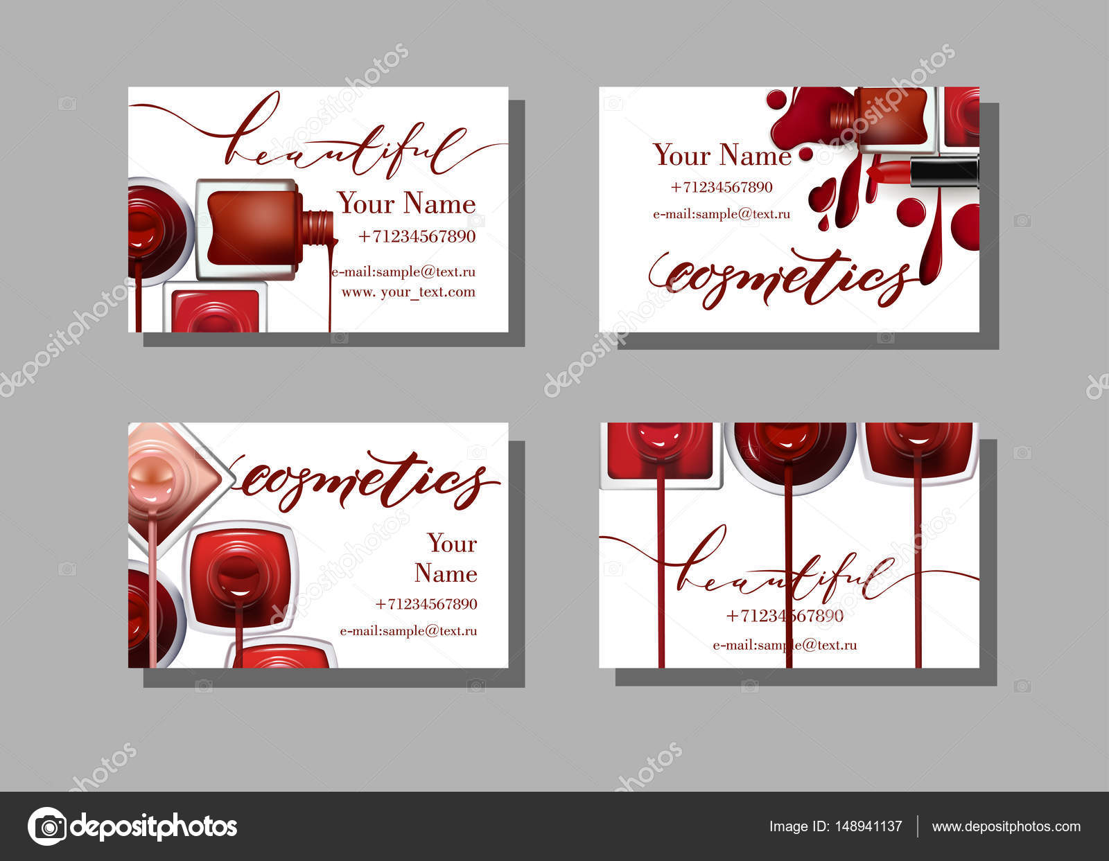 Makeup artist business card vector template with makeup items makeup artist business card vector template with makeup items pattern nail polish template vector cheaphphosting Image collections