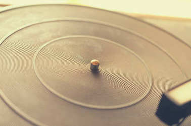 Old dusty record player.