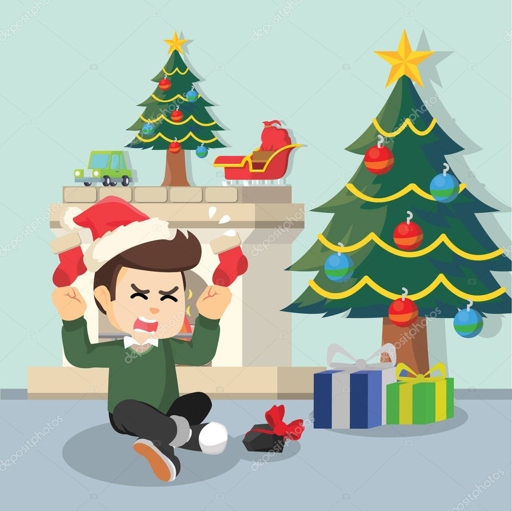 bad boy got coal as christmas present — Stock Vector ...