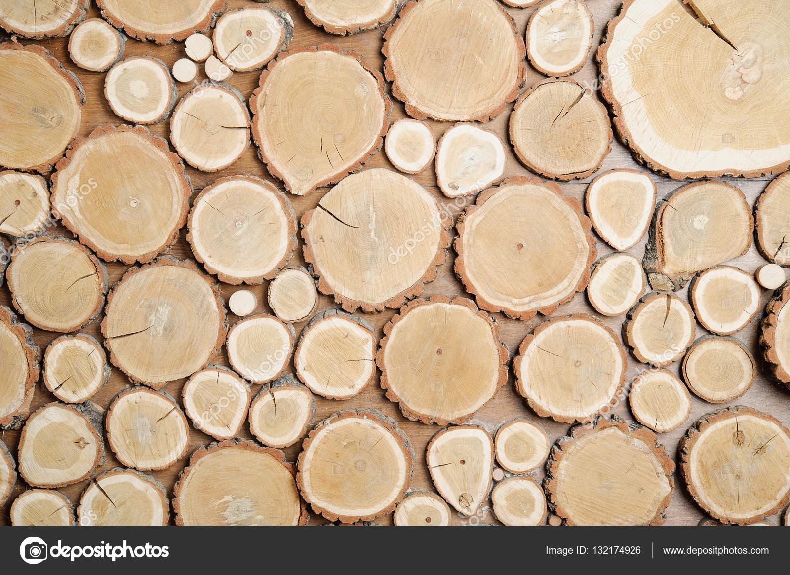 Parete di legno tagliati dischi di legno priorit bassa for Dischi di legno