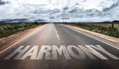 harmony sign on road