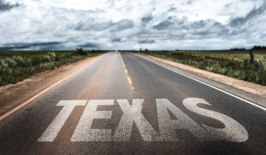 texas sign on road