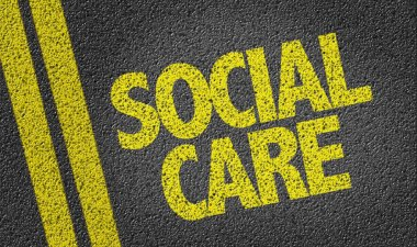 yellow sign social care