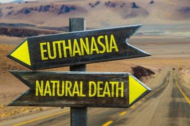 """Картина, постер, плакат, фотообои """"Эвтаназия против естественной смерти"""", артикул 129800640"""