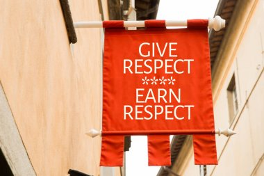 inscription give respect earn respect