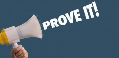 megaphone with the text: Prove It