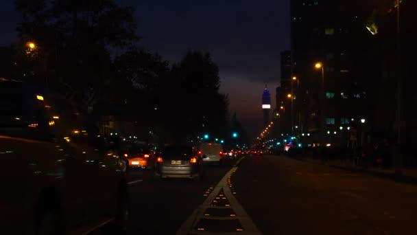 la alameda, ist die Hauptallee von Santago, Chile