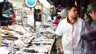 Mercado Central Market in Santiago, Chile
