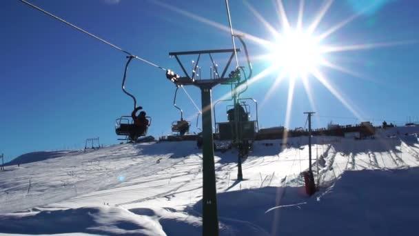 Seilbahn Skilifte in farellones winter mountain ski resort in Chile