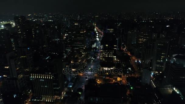 Luftaufnahme der faria lima avenue in sao paulo, Brasilien