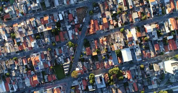 Pohled shora na předměstské čtvrti v Sao Paulo, Brazílie