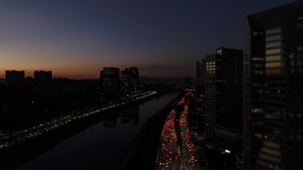 Rush Hour a marginális Pinheiros, Sao Paulo, Brazília