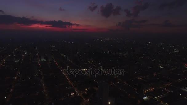 Luftaufnahme des Sonnenuntergangs in Sao Paulo, Brasilien