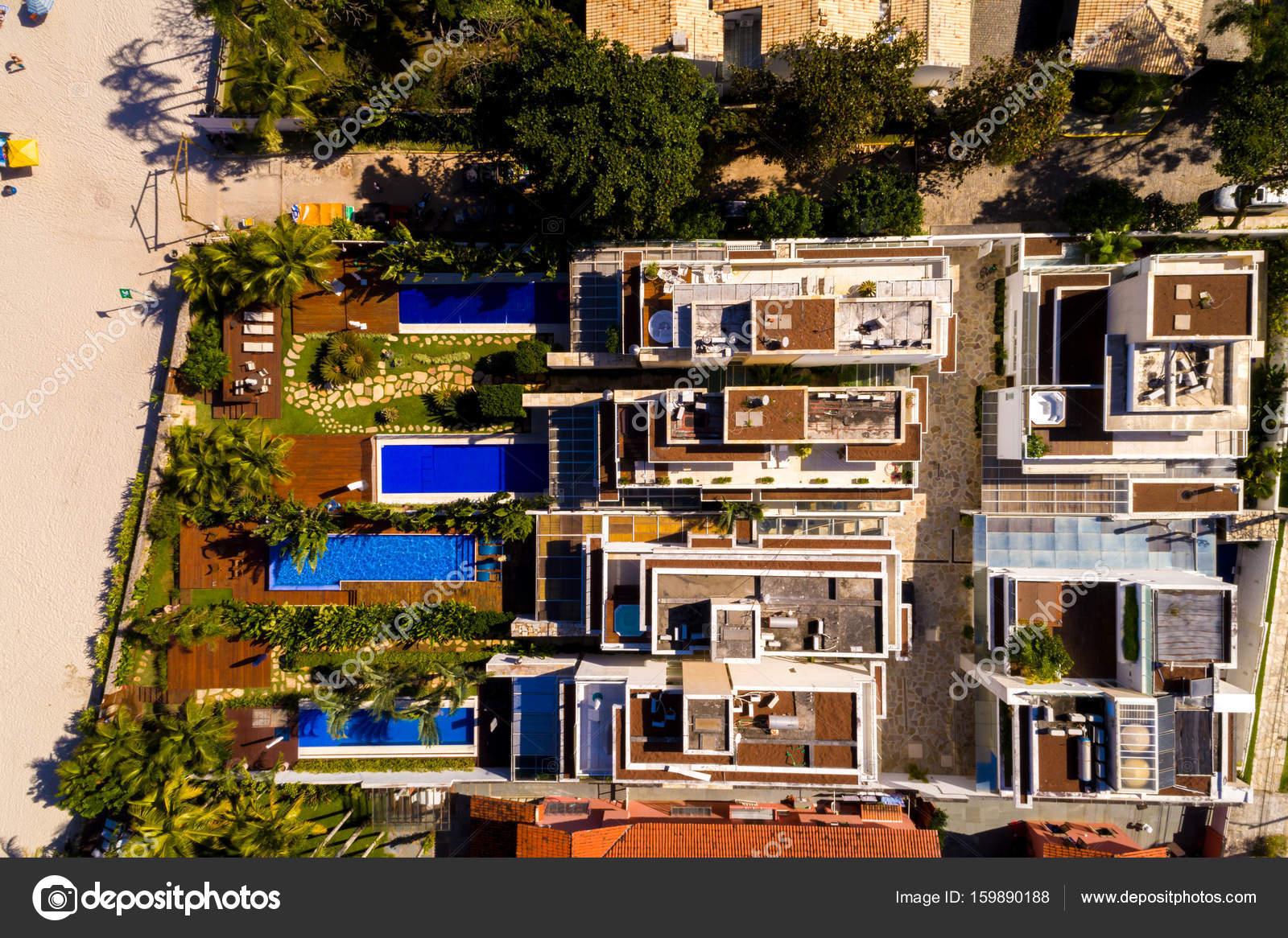 Luxury Homes In Beachfront U2014 Stock Photo