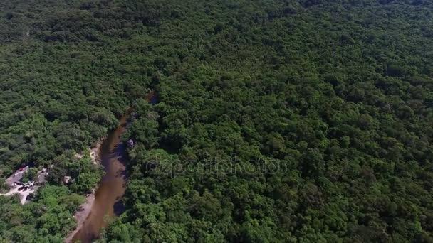 Vista aerea del Rio delle Amazzoni, Brasile