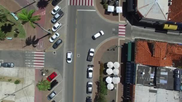 Felülnézet Street - városi élet