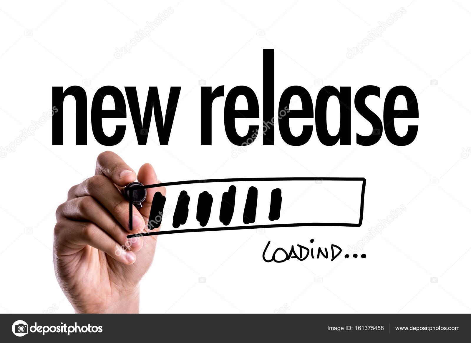 Progreso barra de carga con el texto: nueva versión — Fotos de Stock ...