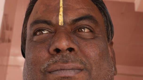 Portrét indiána v Pushkar, Indie