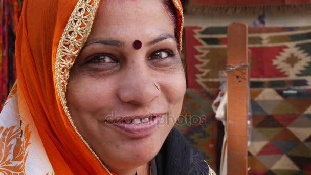 Portrait of Indian Woman in Pushkar, India