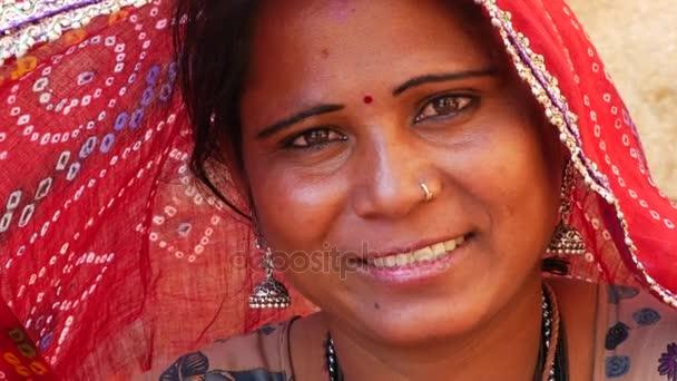 Indian Woman with Sari in Jaisalmer