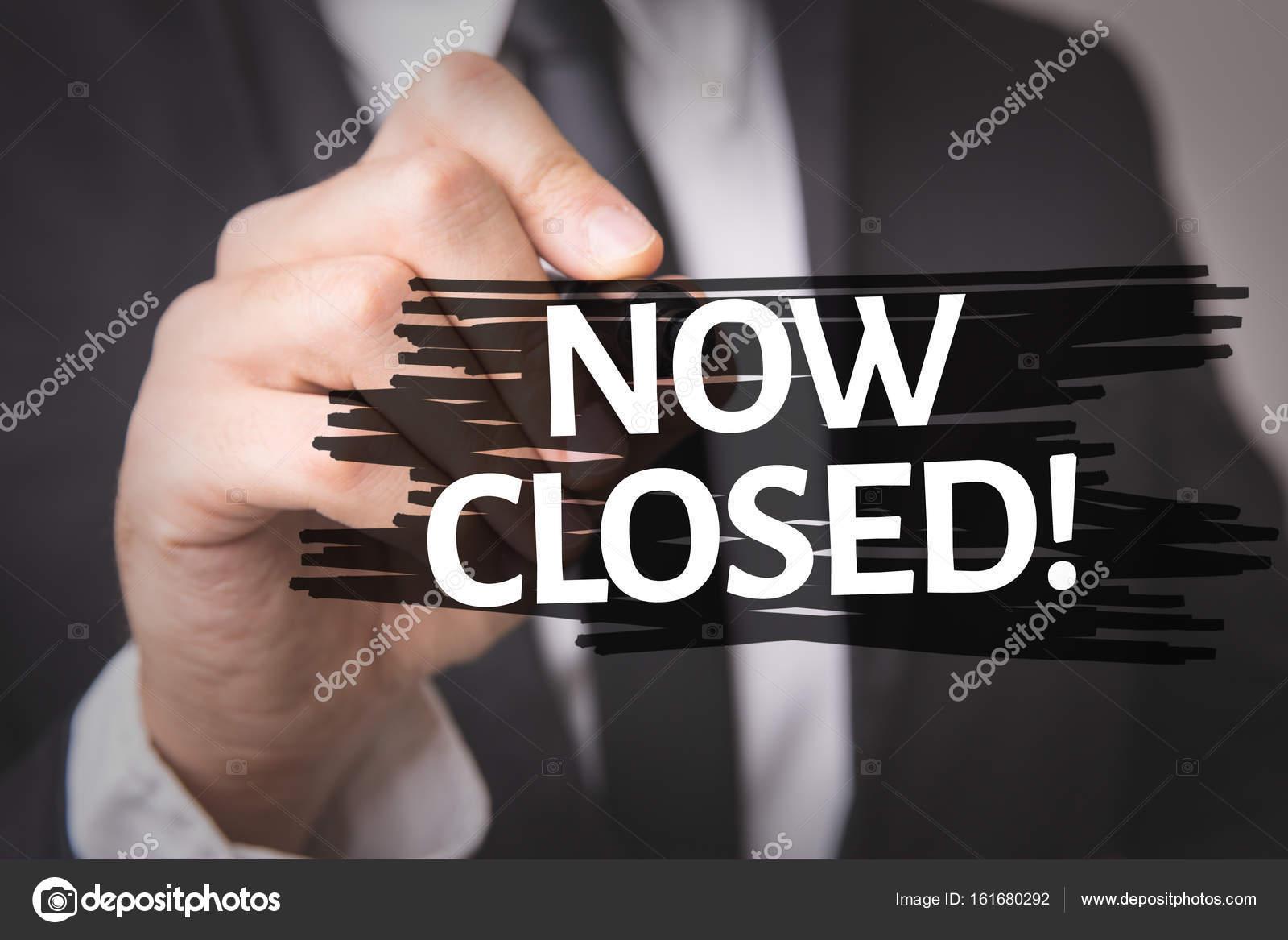 31dd1c17aa0b Τώρα κλειστό! σε μια εννοιολογική εικόνα — Φωτογραφία Αρχείου ...