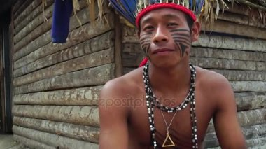 Native Brazilian Man (Indio) a Indigenous Tribe in Brazil