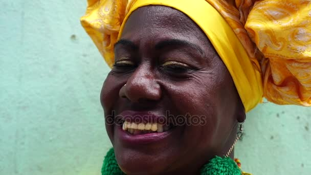 Portrait of Brazilian Woman, dressed in traditional Baiana attire in Salvador, Bahia, Brazil