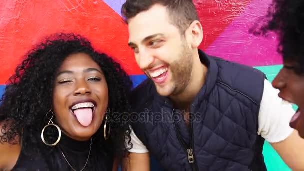 Multi-ethnic Friends taking a Selfie