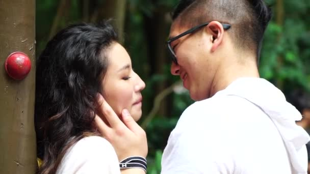 Young Asian Couple Enjoying Intimate Moment Stock Video